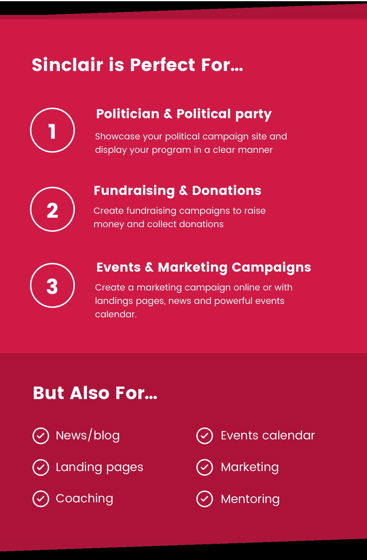 Sinclair - Political & Donations WordPress Theme - 4