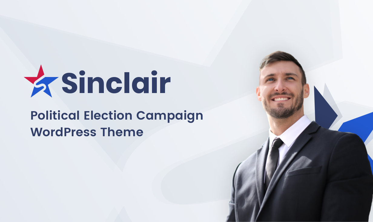 Sinclair - Political & Donations WordPress Theme - 1
