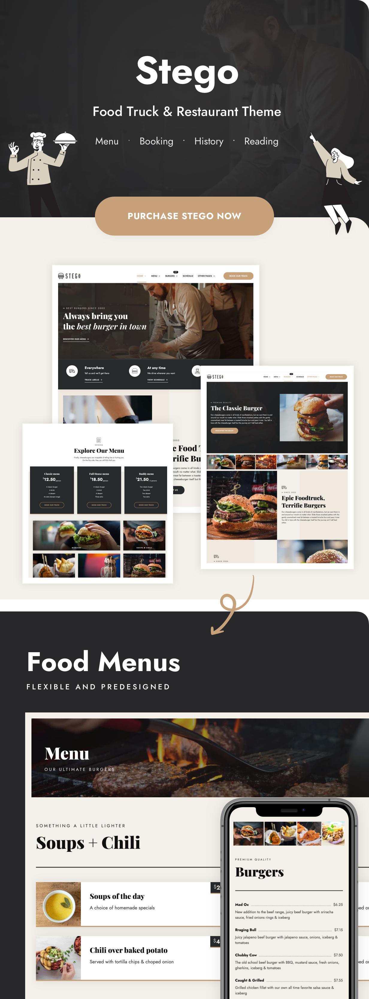 Stego - Food Truck & Restaurant Theme - 4